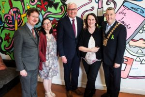 Pictured L-R: Shane Dempsey ARC, Dr Sinead Conneely WIT, Mr Kevin Vickers - Canadian Ambassador, Dr. Roisin O'Shea ARC & Mayor Paul Gogarty